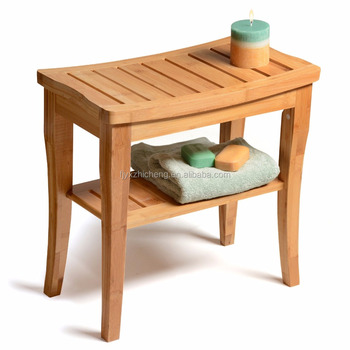 Eco Friendly Bamboo Bathroom Accessories Bamboo Shower Seat Bench