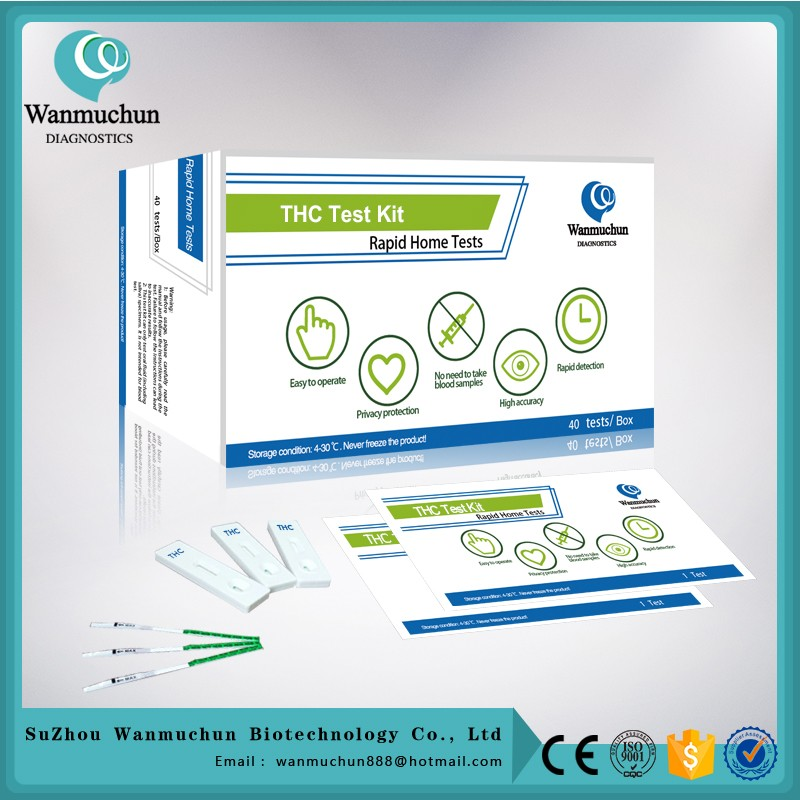 Medical diagnostic drug thc test DOA test strip FDA cleared CE mark