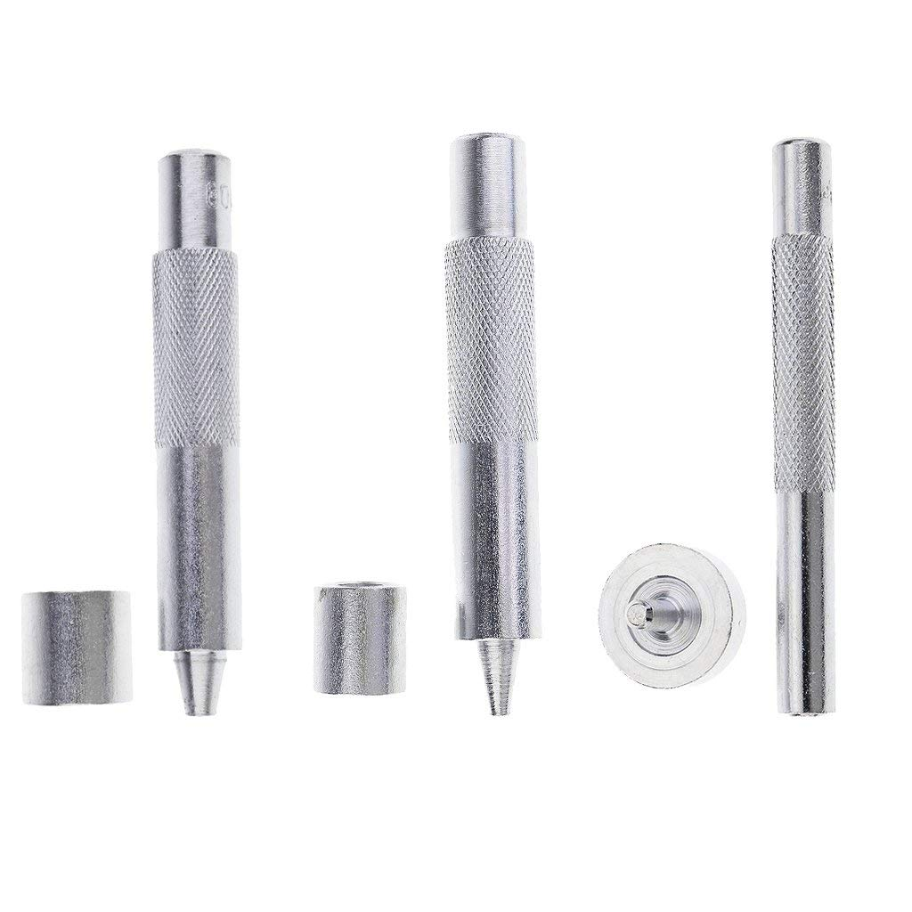 MagiDeal 3 Sets Eyelet Punch Die Tool Hole Cutter Set For Leather Craft Grommet 3 Sizes