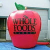 Giant inflatable apple for advertising, inflatable red apple with logo printing