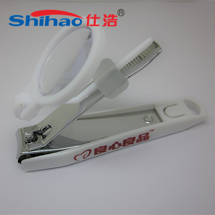 OEM Intimate Gift Printed Logo Removable Magnifier Nail Clipper Cuticle Nipper