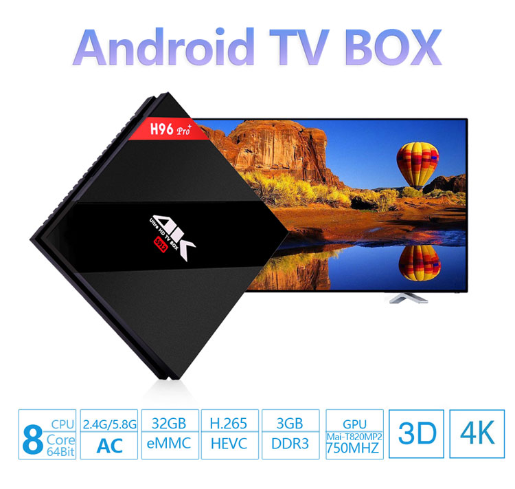 HOT h96 pro plus 3g 32g Smart TV Box Android 7.1 Amlogic S912 Octa Core Wifi 4 K h96 media player h96pro set top box
