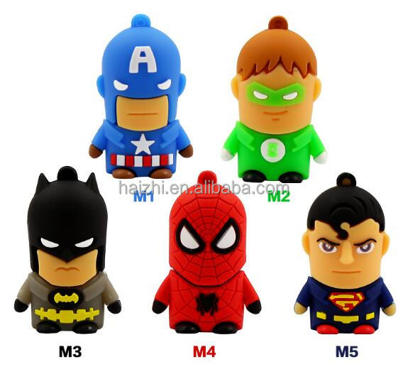 Superman Batman Spiderman super heros memory stick flash drive USB