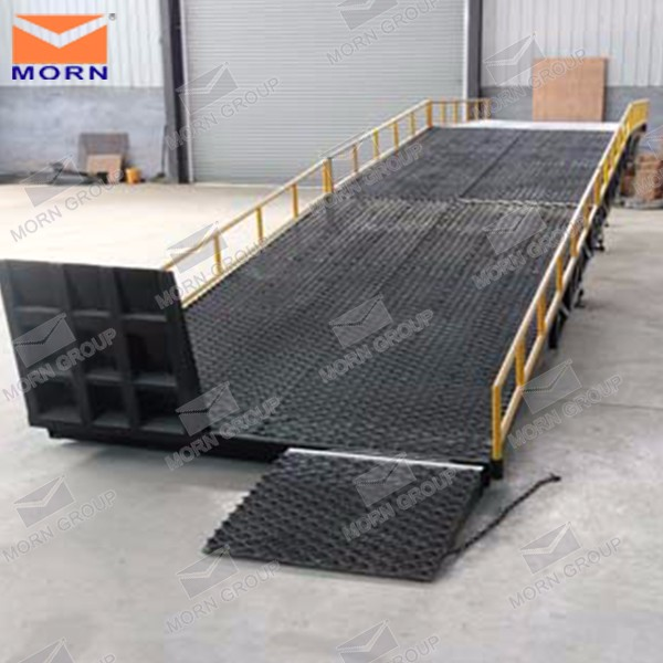 10ton forklift truck container load unload ramp equipment