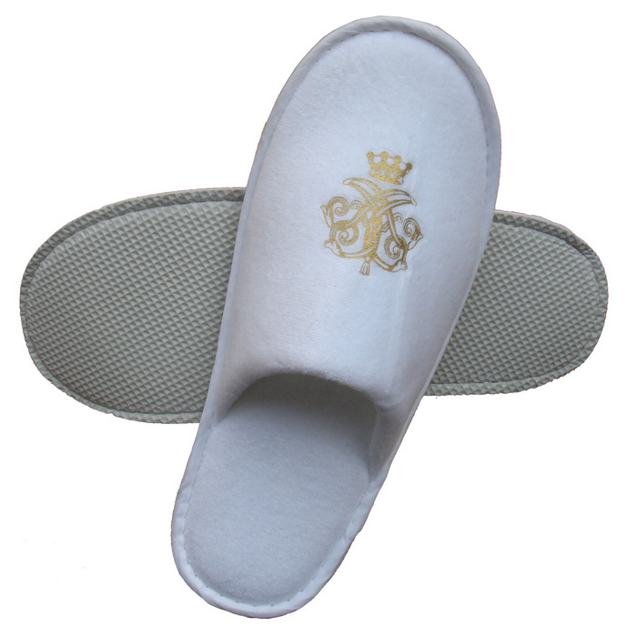 2013 promotional hotel amenties factory velour slipper