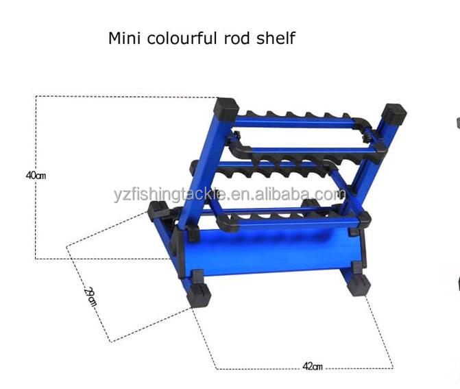 display rod rack for fishing rod