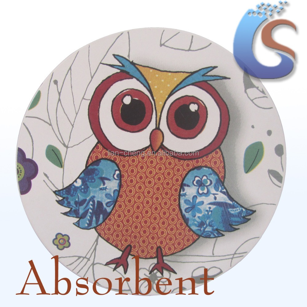 Owl conception absorbants en céramique coaster