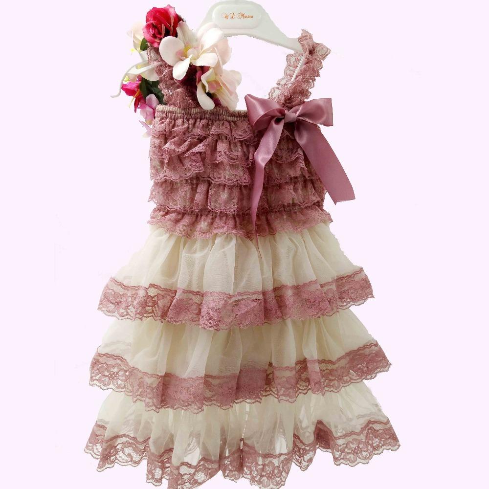 b0fa3785a8c Buy Retail cream Ruffle Lace Flower Girl DRESS
