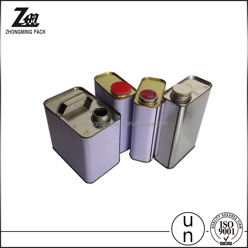 square tin box for oil,rectangular paint can,lubricant oil containers