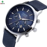 North N-6009 Men Quartz Hot Sale Sport Leather Strap Watch Luxury Male Watches