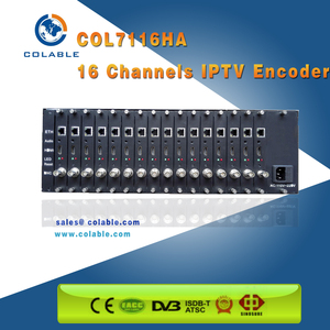 Hotel IPTV system solution H.264 IPTV Encoder 16 channel hd mi /av over IP OUT COL7116HA