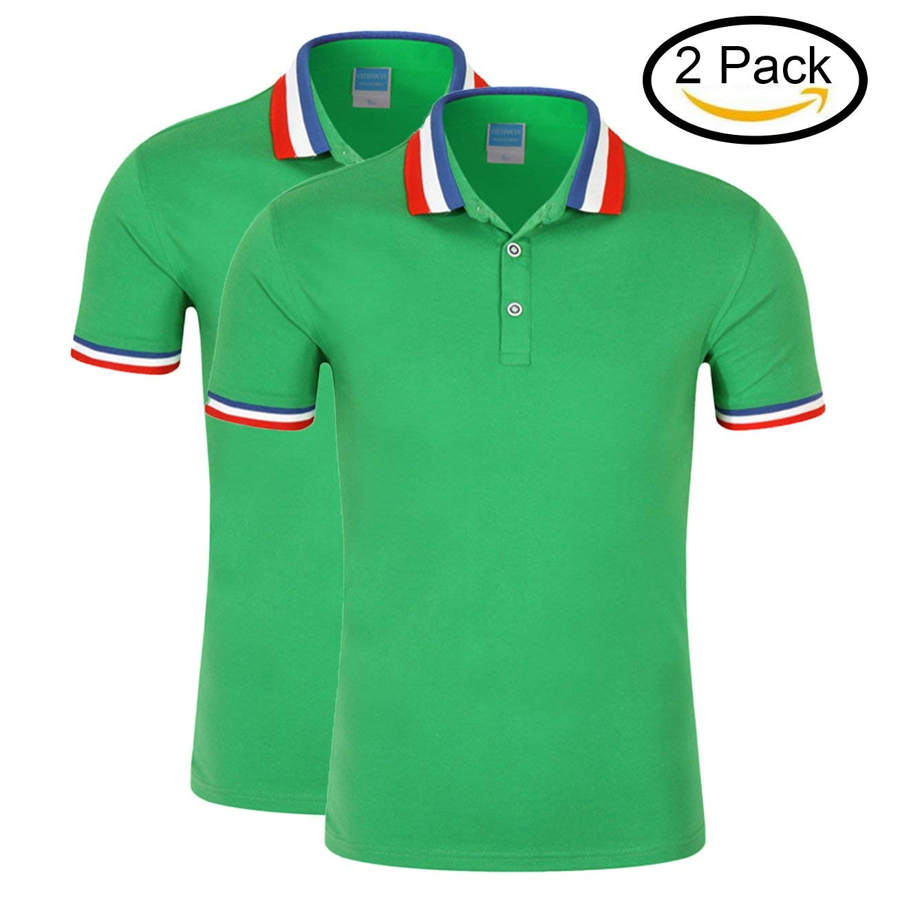 f681c888 Get Quotations · GEEZAN Polo T Shirts Women 2 Pack, Ladies Polo Shirts  Loose Fit Short Sleeve T