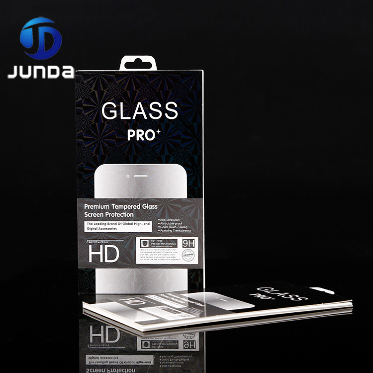 Mobile Phone Tempered Glass Screen Protector Retail case packaging box