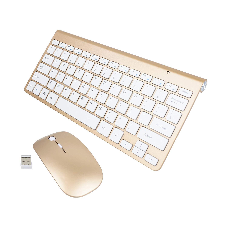 7495f5f99c6 Get Quotations · Agitech Wireless Keyboard + Mouse, 2.4G USB Slim Bluetooth  Keyboard Dedicated Hot Key Design