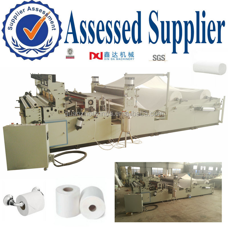 Industry tissue rolls making machine embossed perforated slitting and rewinding toilet paper manufacturing machine equipment