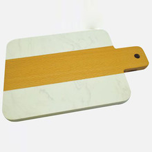 Modern Marble Serving Board with acaica Wood Cutting Chopping Slate