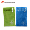 Factory price small flannel cloth pouches bags for mobile phones packing