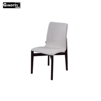 Italian wooden frame fabric cover dining chair