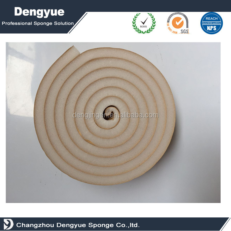 Thermal insulation Sponge Neoprene Stripping With Adhesive Foam tape
