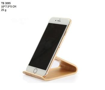 Beech Wooden Table Stand Desktop Phone Holder