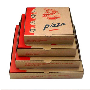 Recyclable custom printed rectangular corrugated paper pizza box