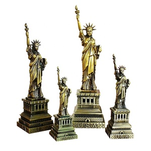 High quality small size bronze figurines statue of Liberty for home table decoration