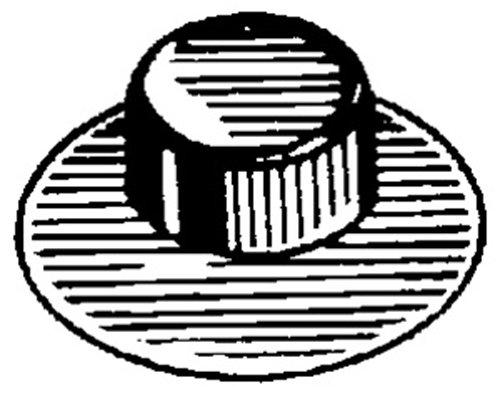 The Hillman Group 58480 Number-10 Pushnut Bolt Retainer 100-Pack