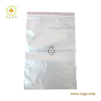 Ldpe Plastic Bags Antistatic Pe Bag Small Printed White Zipper Packaging