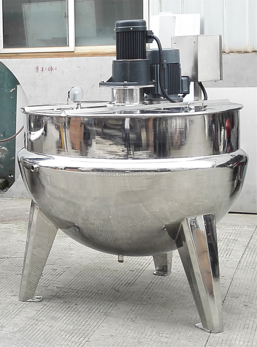 Wenzhou Stainless steel Double Steam Jacketed Kettle for batter making