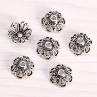 sef061 diy jewelrysilver findings,big size(d14x2mm hole) 925 sterling silver Lotus flower filigree Pierced bead caps