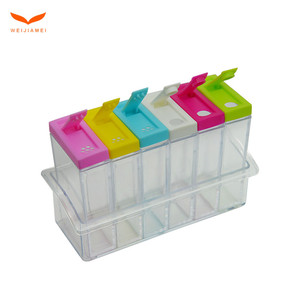 Customized Small Plastic Food Seasoning Storage Container Boxes