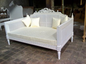 Antique Reproduction Furniture French Daybed