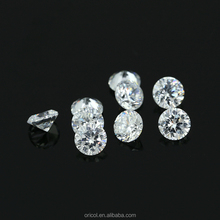 2mm-5mm AAAAA Round White Machine Cut Cubic Zirconia for Jewelry