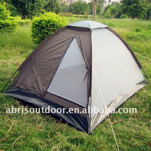 Two person portable solar camping tent