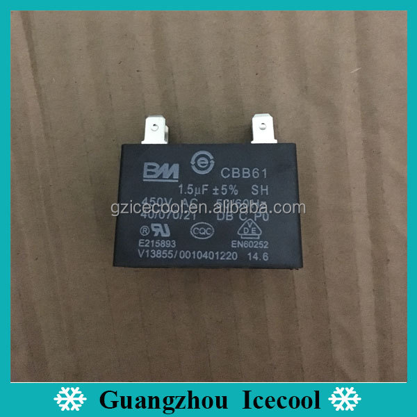 BM 1.5uf 450V CBB61 motor capacitor with 4 pin