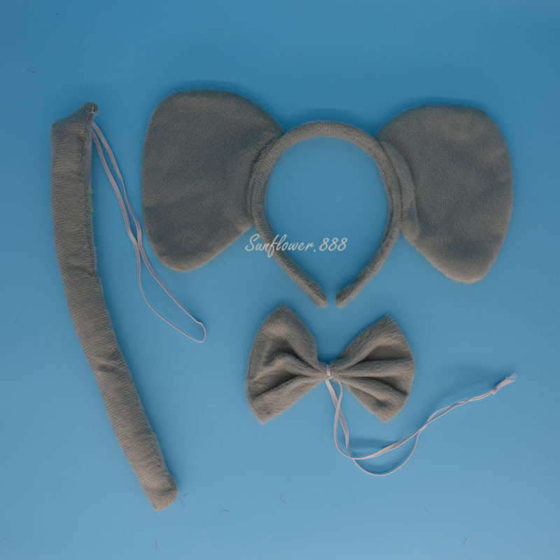 Animal Elephant Headband Bow Tail Collar Party Costume Cosplay font b Fancy b font font b