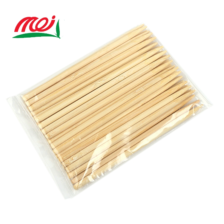 strong mao bamboo disposable round bbq stick for hotdogs