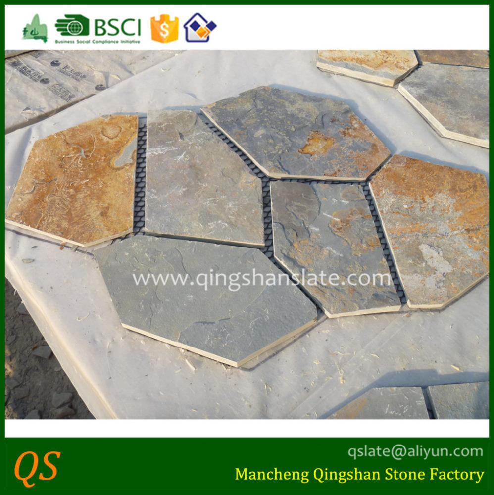 Venta al por mayor piso exterior piedra compre online los - Piedra pizarra oxidada ...