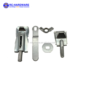 Zinc Plated Hvac Damper Hardwares / Air Fittings For Ductwork System - Buy  Air Duct Fittings,Air Conditioning Fitting,Damper Accessories Product on