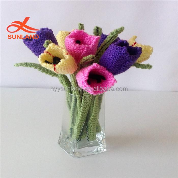 W8258 New Fashion Daffodil Free Knitting Pattern Knit Crochet ...