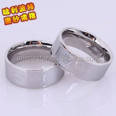 Wholesale cosplay ring fashin design Harry a Potter Anime Ring