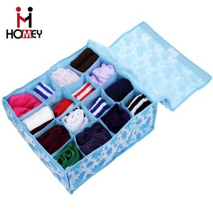 New Design Custom Made Collapsible Lingerie Storage Box Organizer With Lids