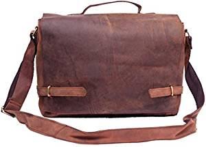 """""""SUPER SALE"""" LARGE Unisex Genuine Leather Messenger Bag Leather Travel Satchel Briefcase Laptop / Macbook Bag"""