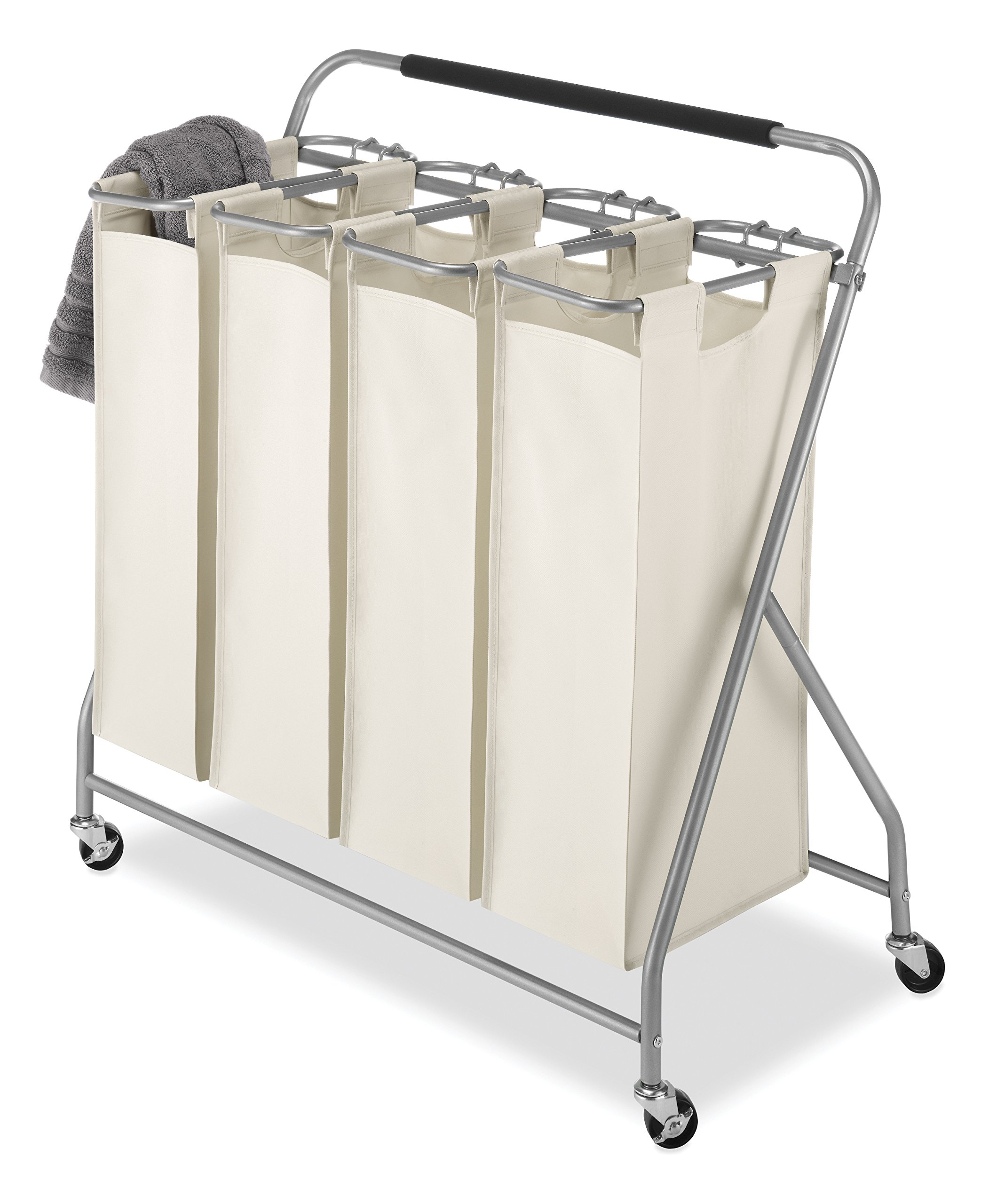 Get Quotations Whitmor Easy Lift 4 Bag Quad Laundry Sorter