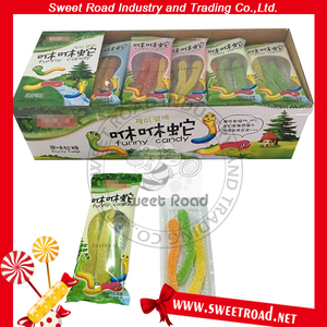Halal Fruit Flavor Snake Shape Jelly Candy in Display Box