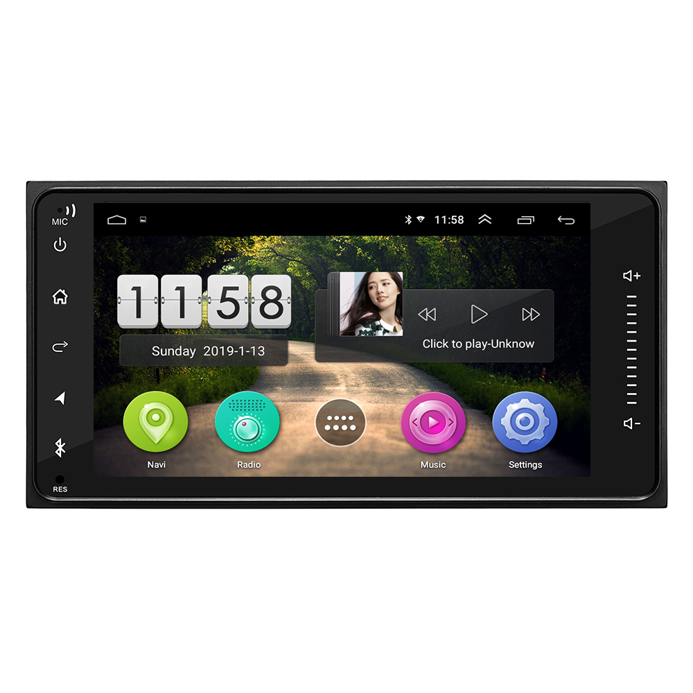 Hot koop HD 1025*600 capacitieve multi-touch screen android 8.0 7169 DAB radio universele auto multimedia systemen voor crown