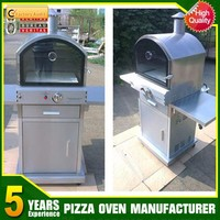 Outdoor stainless bbq gas grill with oven