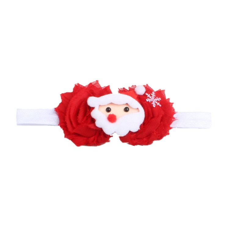 New Style Christmas Children Old Flower Cartoon Pattern Baby Headband