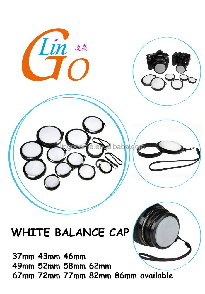 White Balance DC/DV Camera Lens Cap Filter Mount