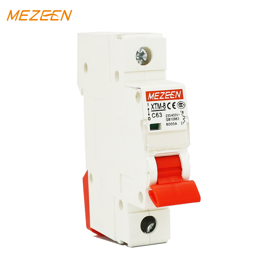 XTM-8 1p 6kv 10A 25A 3.2A israel mini circuit breaker with indicator light